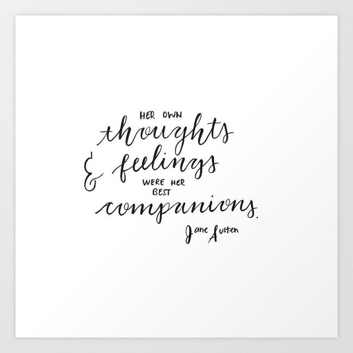 Jane Austen Quote Art Print by bonjourannika