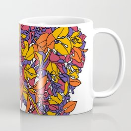 Exotic colorful floral digital butterfly 2020 Coffee Mug