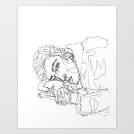 bored af. Art Print