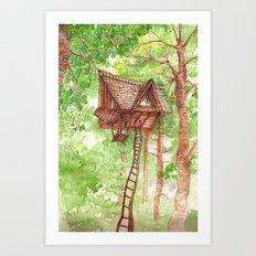 Treehouse Retreat Art Print