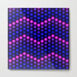 Beaded Chevrons III Metal Print