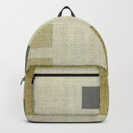 """Burlap Texture Natural Shades"" Backpack"