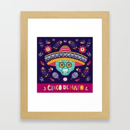 Cinco de Mayo – Square Framed Art Print