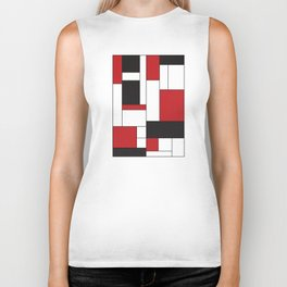 Geometric Abstract - Rectangulars Colored Biker Tank