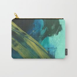 Align: a bold, abstract minimal piece in blues and greens Carry-All Pouch