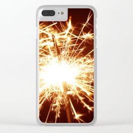 Golden Summer Sparkler Clear iPhone Case