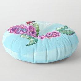 The Contemplative Ladybug Floor Pillow