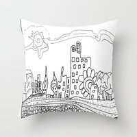 les mis Throw Pillows featuring Ciudad de mis amores. by SuperFlashArts!