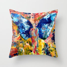 Butterfly 1, Acrylic On Canvas, Chase Medved Throw Pillow