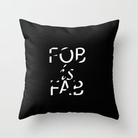 band Throw Pillows featuring Band by alexandraverena
