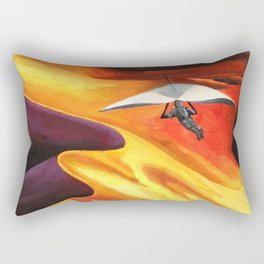 Hang-Glider Oil Painting Rectangular Pillow