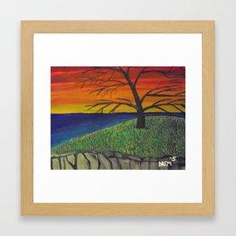 Sunset and Tree Beautiful Framed Art Print