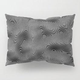 Grey Topographic Landscape Pillow Sham