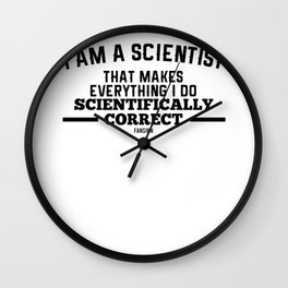 Science nerd teacher research laboratory Wall Clock