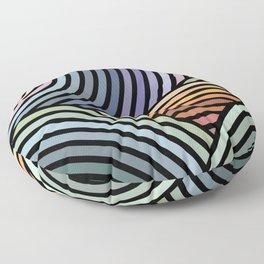 Hypnotic landscape Floor Pillow