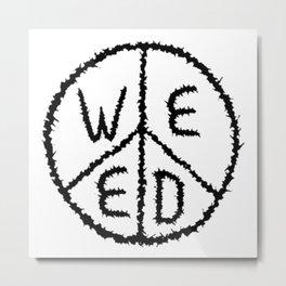 WEED-7 Metal Print
