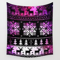 sweater Wall Tapestries featuring Galaxy-Sweater by MaHe$ha