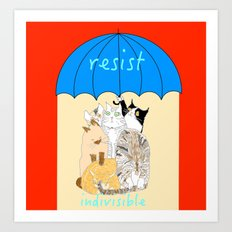 resist. indivisible Art Print
