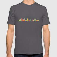 Mountain range Mens Fitted Tee MEDIUM Asphalt