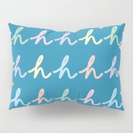 Script Letter H Pattern Pillow Sham