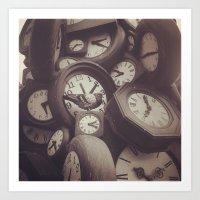 Clock Clok Clock Art Print