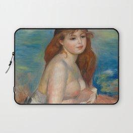 """Auguste Renoir """"Après le bain (Petite Baigneuse)"""" Laptop Sleeve"""