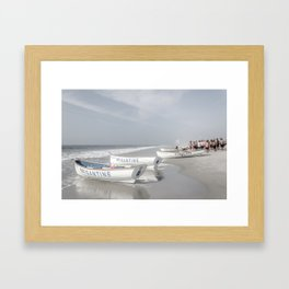 Beach Patrol Brigantine Framed Art Print
