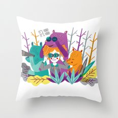 Spring is Coming! Throw Pillow