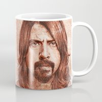 dave grohl Mugs featuring Dave Grohl by Renato Cunha