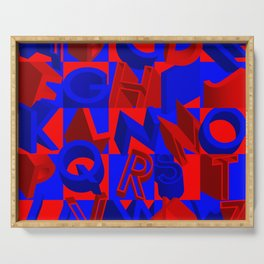 Blue and Red 3D Alphabet Serving Tray