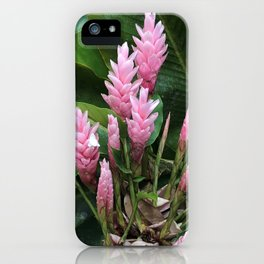 Pink Alpinia - Tropical Flower  iPhone Case