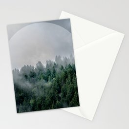 Foggy Woods 3 Stationery Cards