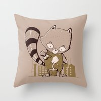 groot Throw Pillows featuring Grow Groot by Manfred Maroto