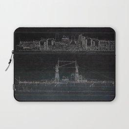 Vintage USS Oklahoma Blueprints Laptop Sleeve