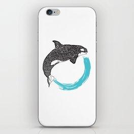 Orca Circle iPhone Skin