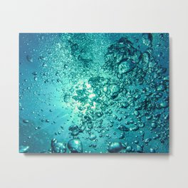 Thirsty Sprite Bubble Metal Print