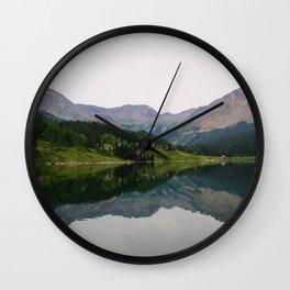 Mountain Reflection Wall Clock