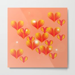 Floating and flying hearts. Metal Print