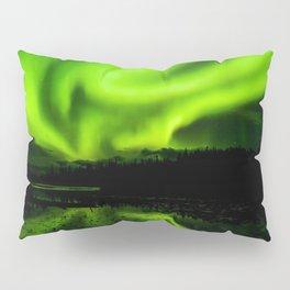 aurora borealis northern lights sky Pillow Sham