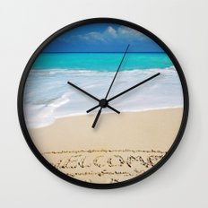 Welcome Home Beach Bum Wall Clock
