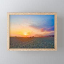 Santa Monica State Beach Framed Mini Art Print