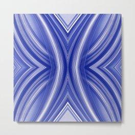 108 - indigo blue paper pattern Metal Print