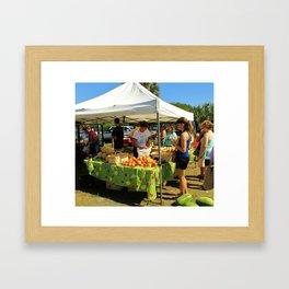 Saturday Farmer's Market Framed Art Print