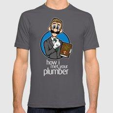 How I Met Your Plumber Asphalt MEDIUM Mens Fitted Tee