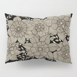 Zentangle Flowers Pillow Sham