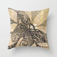 Doodlefly Throw Pillow