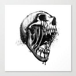 Melting Primal Scream - Skull Canvas Print