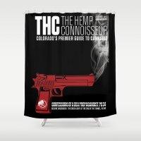 propaganda Shower Curtains featuring THC Propaganda by The Hemp Connoisseur  ™