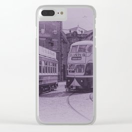 Classic Trams Clear iPhone Case
