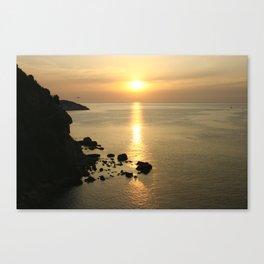 Sunset in Elba Canvas Print